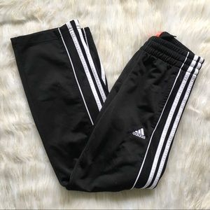 Adidas Kids Black and White Basketball Sweatpants